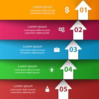 Illustrazione di vettore di stile di origami del modello di infographic di affari