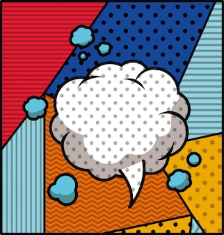 Illustrazione di vettore di stile di pop art della bolla di discorso