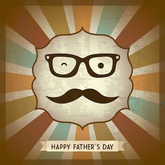 Illustrazione di vettore di stile retrò carta di giorno di padri