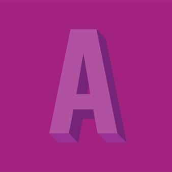 Illustrazione di vettore di tipografia lettera dell'alfabeto