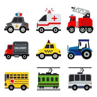 Illustrazione di vettore di trasporto dei veicoli dell'automobile del trasporto