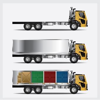 Illustrazione di vettore isolata trasporto dei camion del carico