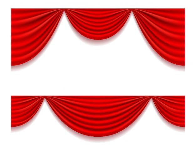 Illustrazione di vettore tenda rossa teatrale