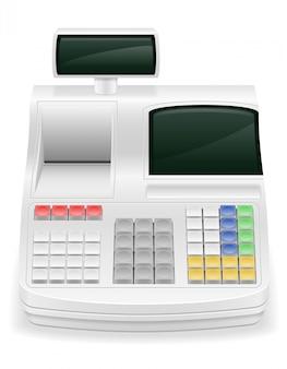 Illustrazione di vettoriali stock di registratore di cassa