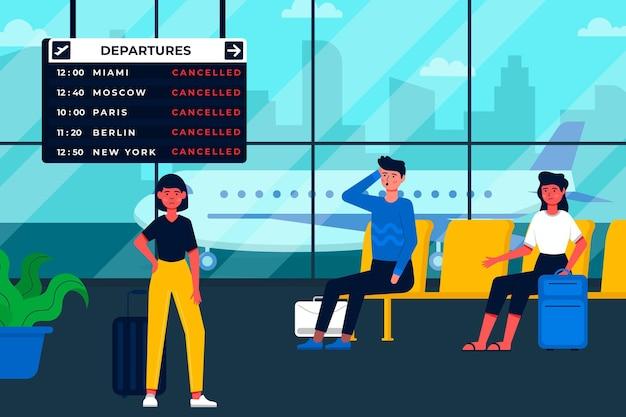 Illustrazione di volo annullata