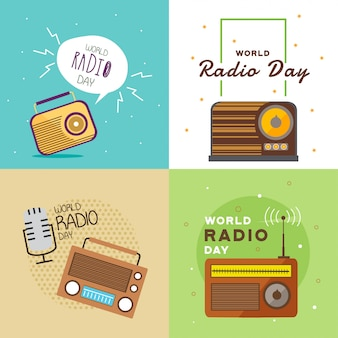 Illustrazione di world radio day