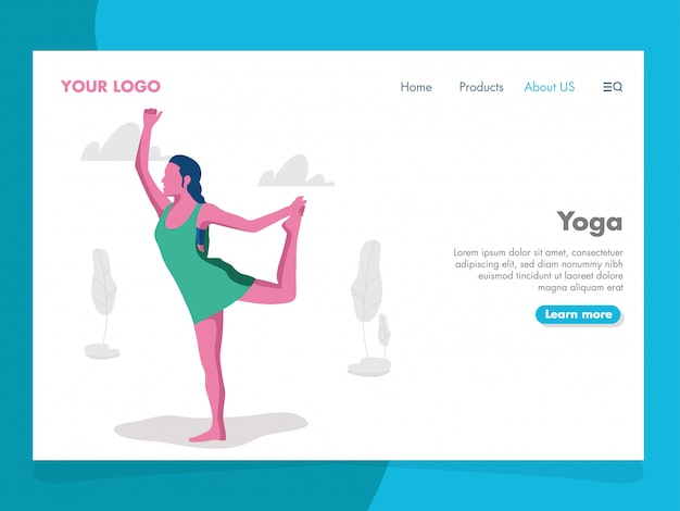 Illustrazione di yoga per la pagina di destinazione