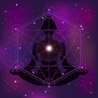 Illustrazione di zen di geometria sacra