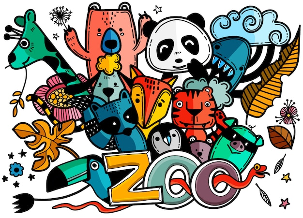 Illustrazione di zoo