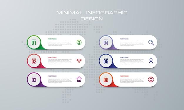 Illustrazione digitale 3d astratta infographic. utilizzato per il layout del flusso di lavoro, diagramma, opzioni di numero