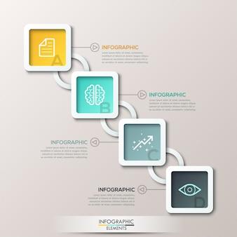 Illustrazione digitale astratta 3d infographic