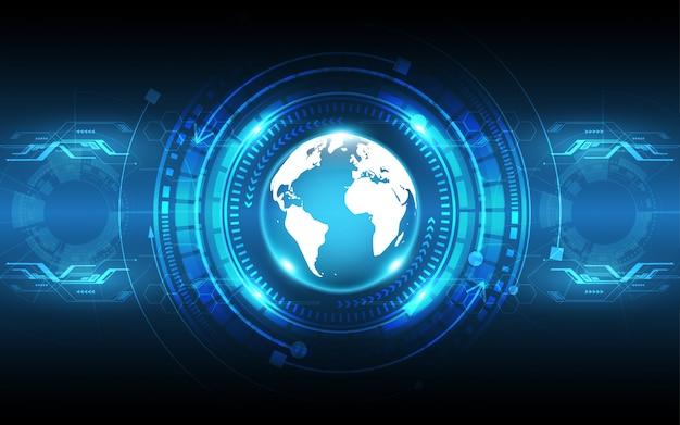 Illustrazione digitale futuristica del fondo dell'innovazione di concetto astratto globale di comunicazione del fondo