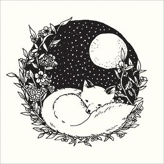 Illustrazione disegnata a mano della raccolta astratta di fantasia di progettazione di arte grafica di scarabocchio.