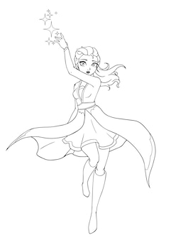 Illustrazione disegnata a mano della strega.