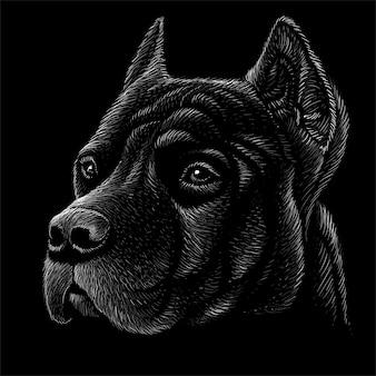 Illustrazione disegnata a mano in stile gesso del cane