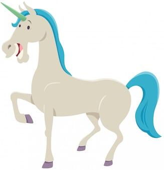 Illustrazione divertente del fumetto del personaggio di fantasia dell'unicorno