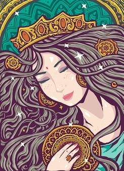 Illustrazione divina femminile anima gemella