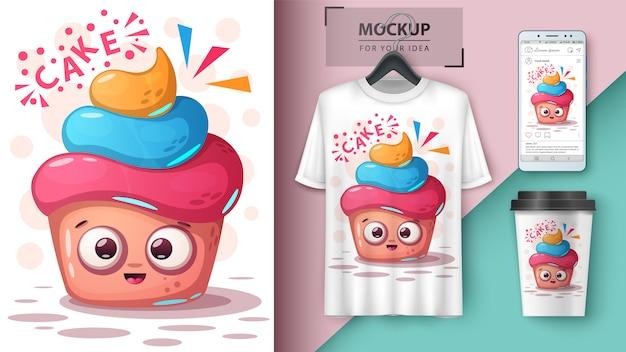 Illustrazione dolce cupcake