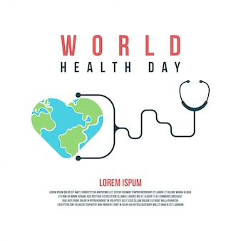Illustrazione e fondo di giornata mondiale della salute per celebrare la giornata mondiale della salute