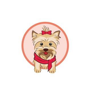 Illustrazione e logo del cane carino