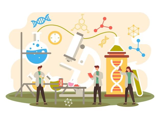 Illustrazione esperimento scientifico