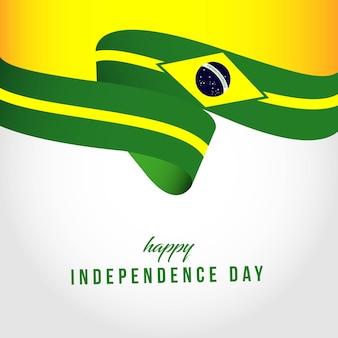Illustrazione felice del modello di giorno dell'indipendenza del brasile