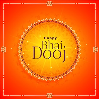 Illustrazione felice di celebrazione di festival del dooj di bhai