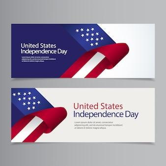 Illustrazione felice di progettazione del modello di celebrazione di festa dell'indipendenza degli stati uniti