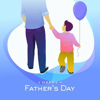 Illustrazione felice di vettore della cartolina d'auguri di giorno di padri