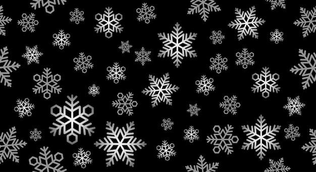 Illustrazione festiva senza cuciture del fondo della neve.