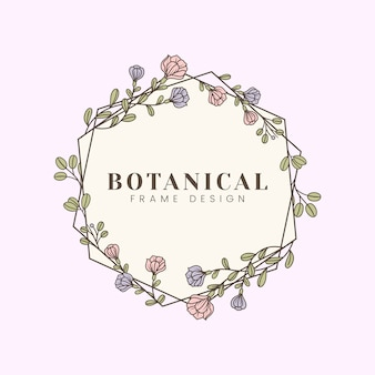 Illustrazione floreale botanica mockup