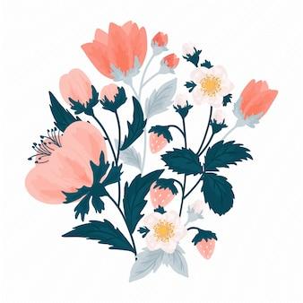 Illustrazione floreale colorato