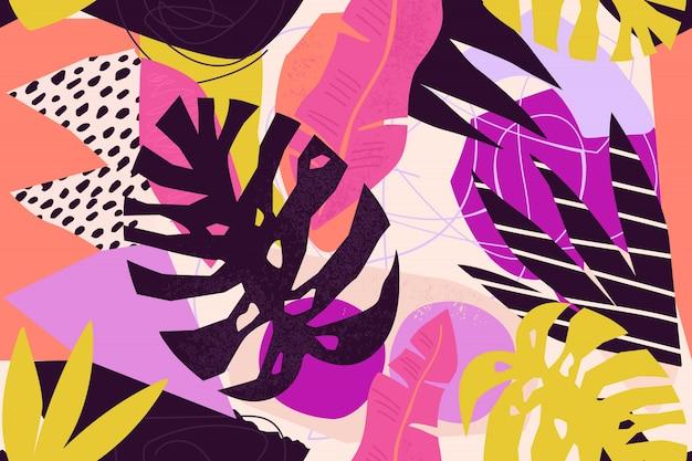 Illustrazione floreale contemporanea