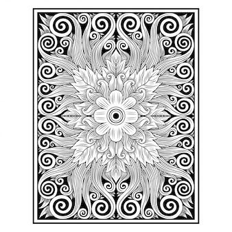 Illustrazione floreale della pianta decorata dell'ornamento