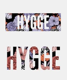 Illustrazione floreale di hygge