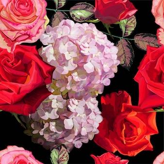 Illustrazione floreale senza cuciture di vettore del modello