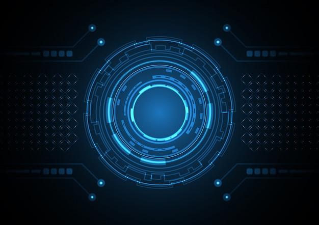 Illustrazione futura astratta di vettore del fondo del cerchio di tecnologia