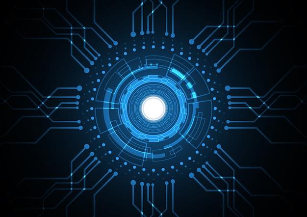 Illustrazione futura astratta di vettore del fondo del circuito del cerchio di tecnologia