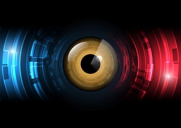 Illustrazione futura astratta di vettore del fondo del radar del cerchio dell'occhio di tecnologia