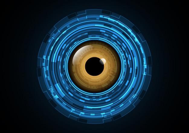Illustrazione futura astratta di vettore del fondo dell'occhio del cerchio di tecnologia