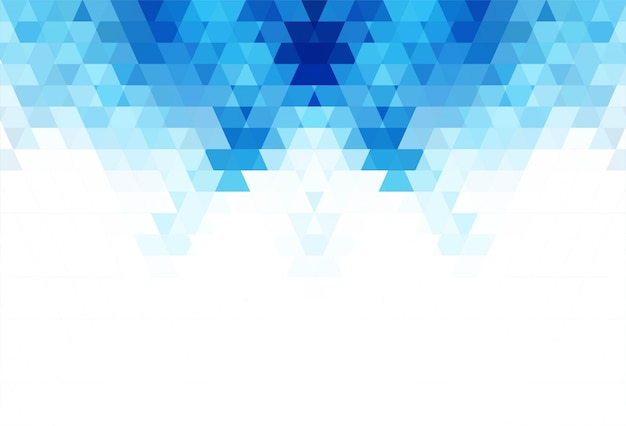 Illustrazione geometrica blu astratta del fondo di forme