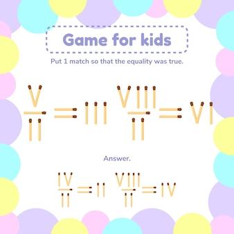 Illustrazione. gioco di matematica per bambini.