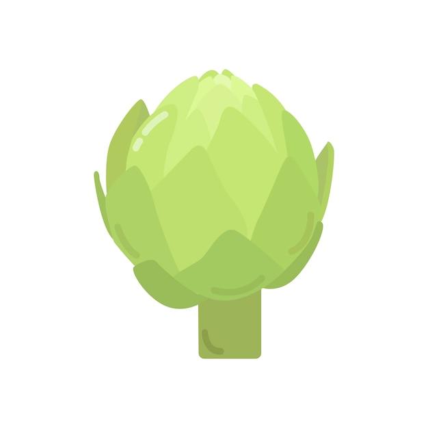 Illustrazione grafica di carciofo verde sano