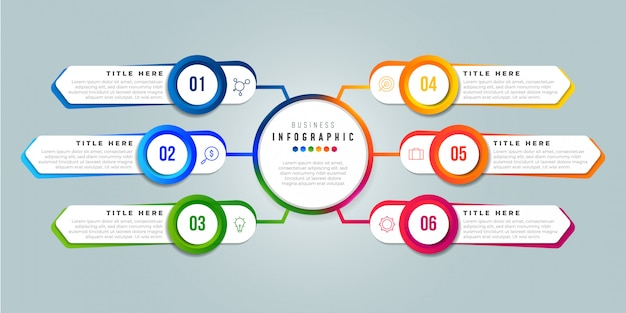 Illustrazione infografica di affari
