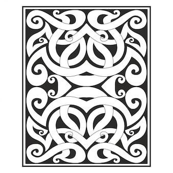 Illustrazione intagliata ornamento decorato