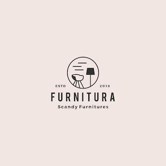 Illustrazione interna dell'icona di vettore di logo della mobilia