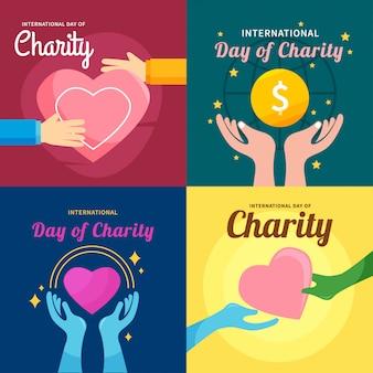Illustrazione internazionale di vettore di progettazione di carità