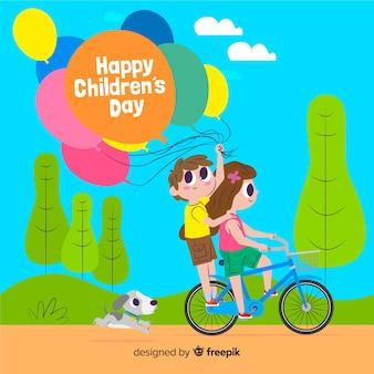 Illustrazione internazionale per l'evento del giorno dei bambini