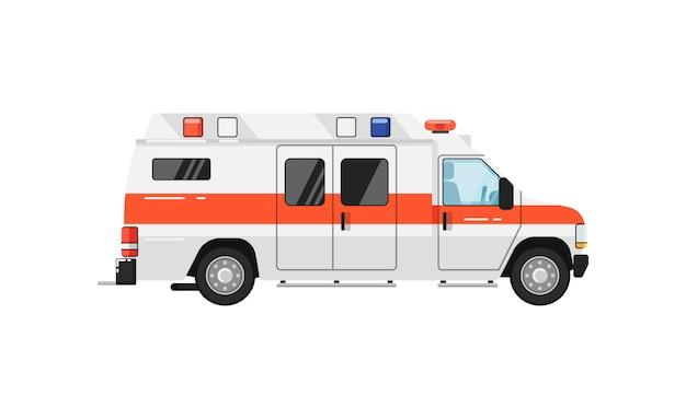 Illustrazione isolata automobile dell'ambulanza