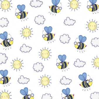 Illustrazione isolata del fumetto di tiraggio dell'ape